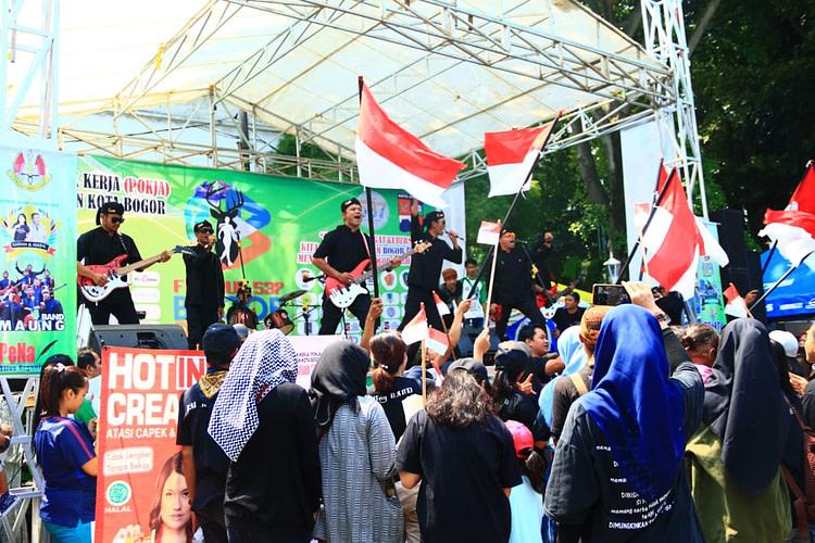 MaUng Band Gaungkan Semangat Kebersamaan dan Nasionalisme di Balaikota Bogor