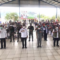 Satgas Komposit Marinir STT Natuna Pasmar 1 Dukung Baksos Menteri Sosial, Kepala Bakamla, Dan BNPB Di Natuna