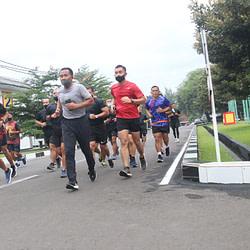 Dankormar Melaksanakan Olahraga Pagi Di Tengah Pandemi Corona