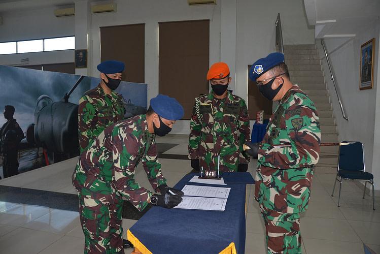 Kolonel Pnb Bagus Hariyadi Resmi Jabat Danwing 7 dan Letkol Pnb Agung Indrajaya Jabat Kadisops Lanud Supadio