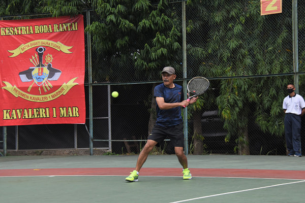 Danpasmar 1 Tutup Perlombaan New Normal Danpasmar 1 Cup Tennis Competition 2020