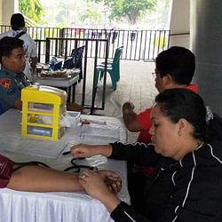 Prajurit Yonmarhanlan VII Kupang Sumbang Darah Dalam Pesta Rakyat Bersama BRI