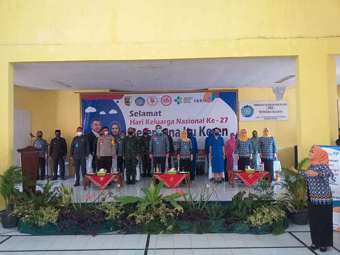 Ketua Cabang 7 Pengurus Gabungan Jalasenastri Kormar (Brigif 4 Marinir/BS) hadiri Peringatan Hari Keluarga Nasional ke 27 tahun 2020 di Kabupaten Pesawaran