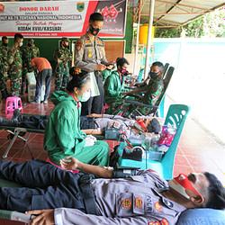 Sambut Peringatan HUT ke-75 TNI 2020, Kodam XVIII/Kasuari Gelar Donor Darah