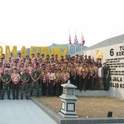 Brigif 4 Marinir/BS Siap Mencetak SDM Pramuka Unggul yang  Berwawasan Maritim dan Bahari