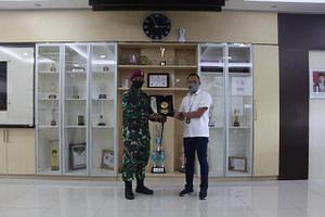 Kunjungan Kerja Komandan Brigif 4 Marinir/BS di PT. Pelindo II Cabang Panjang Lampung