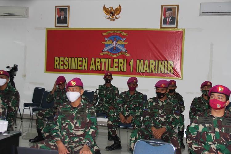 Resimen Artileri 1 Marinir Mengikuti Pidato Kenegaraan Presiden RI
