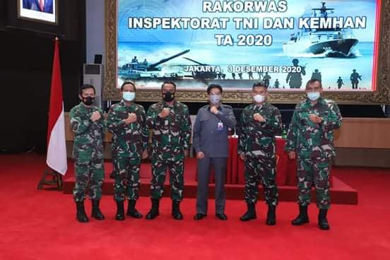 Irjen TNI Buka Rakorwas Inspektorat TNI dan Kemhan 2020