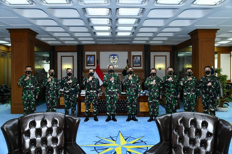 Kasau Terima Laporan Kenaikan Pangkat 18 Pati TNI AU