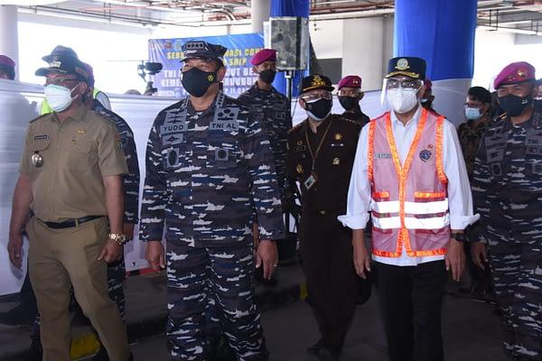 Korps Marinir TNI AL dan Kemenhub RI Melaksanakan Serbuan Vaksin di Pelabuhan-Pelabuhan dan Masyarakat Pesisir Banten