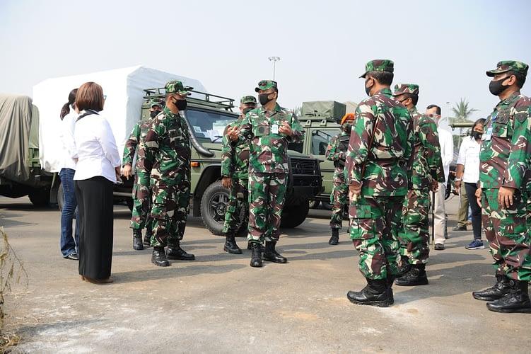 Kasau Tinjau Satrudal TNI AU di Teluk Naga