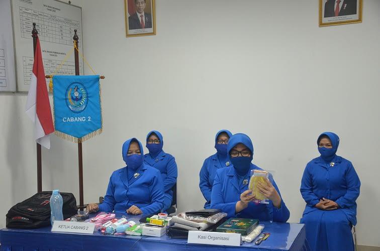 Jalasenastri Cabang-2 PG Korps Marinir Gelar Sosialisasi Tas Siaga Bencana