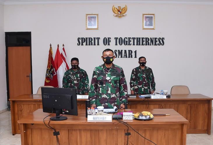 Danpasmar 1 Ikuti Rakor Renaku II TNI AL Tahun 2020 Secara Virtual