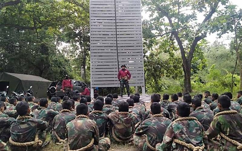 Pelatihan Kolatmar Bekali Keterampilan Mountering Calon Prajurit Muda Korps Marinir