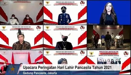 Panglima TNI Hadiri Upacara Peringatan Hari Lahir Pancasila secara Daring