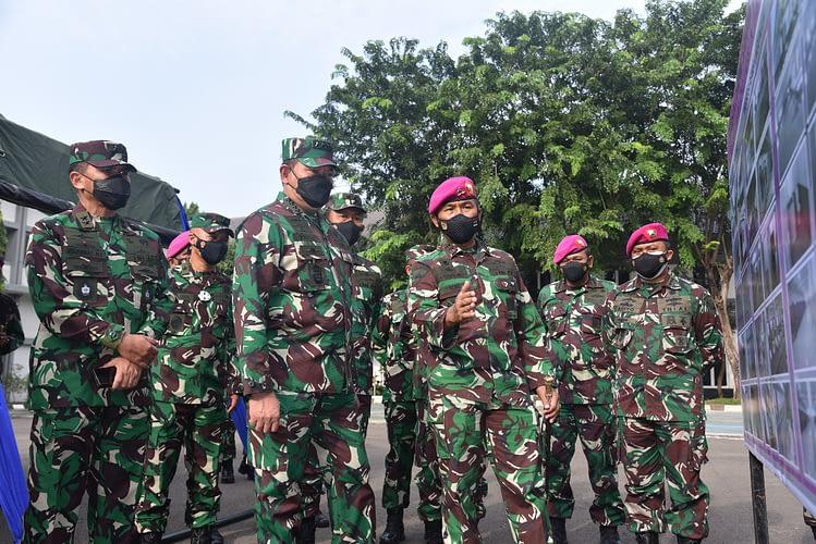 Kasal Tinjau Mess Dolos Marinir Menjadi Sarana Perawatan Covid-19