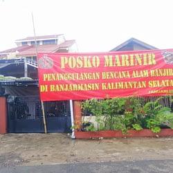 Marinir TNI AL Siapkan Posko Dapur Lapangan Peduli Banjir Kalsel