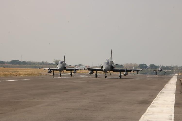 Skadron Udara 1 Laksanakan Misi Parsial dan Gabungan Pada MOT 2020
