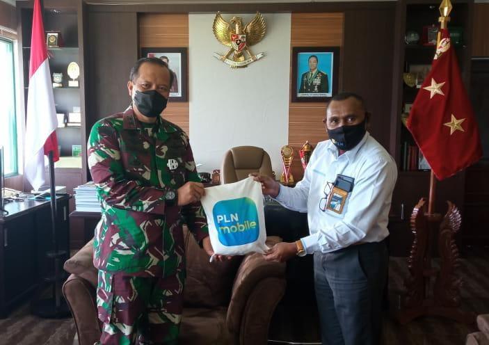 Manager PT PLN (Persero) UP3 Manokwari Temui Pangdam XVIII/Kasuari
