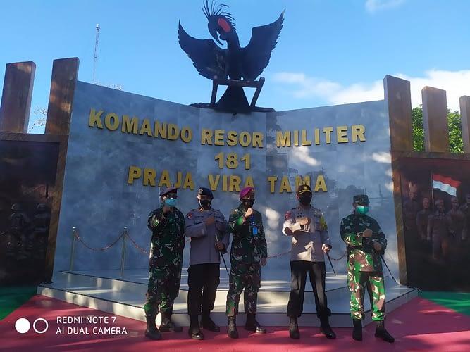 Asops Danpasmar 3 Mengikuti Rapat Teknis Peningkatan Koordinasi dan Sinegritas TNI Polri