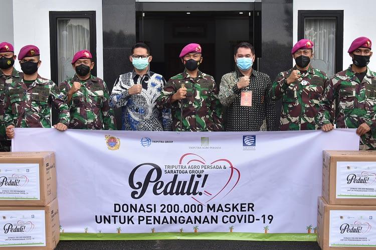 Korps Marinir TNI AL Terima Donasi 200.000 Masker Peduli Covid-19