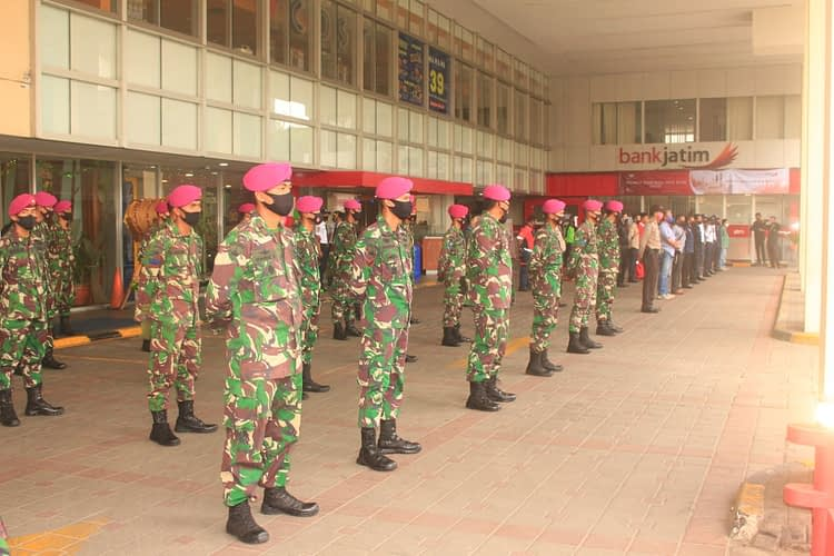 Prajurit Korps Marinir Pasmar 1 Amankan Ibu Kota Jelang Pelaksaan New Normal