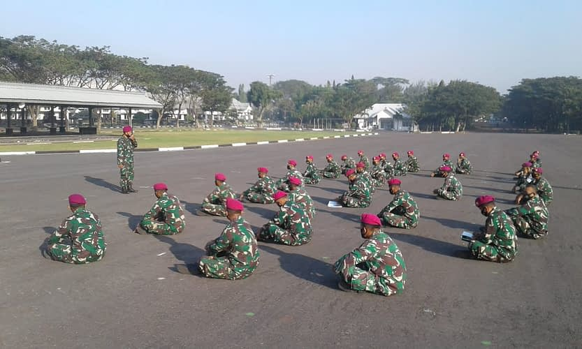 Prajurit Batalyon Arhanud 2 Marinir Ikuti Safari Hukum