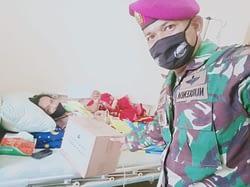 Bentuk Kepedulian dari Marinir, Ketua IWO Purwakarta Yang Sedang Sakit di Jenguk Langsung. Kamis (22/05/2020)