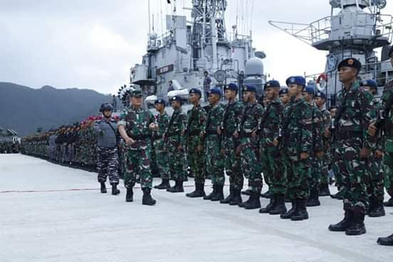 Pangkogabwilhan 1 Pimpin Apel Gelar Pasukan Pengamanan Laut Natuna