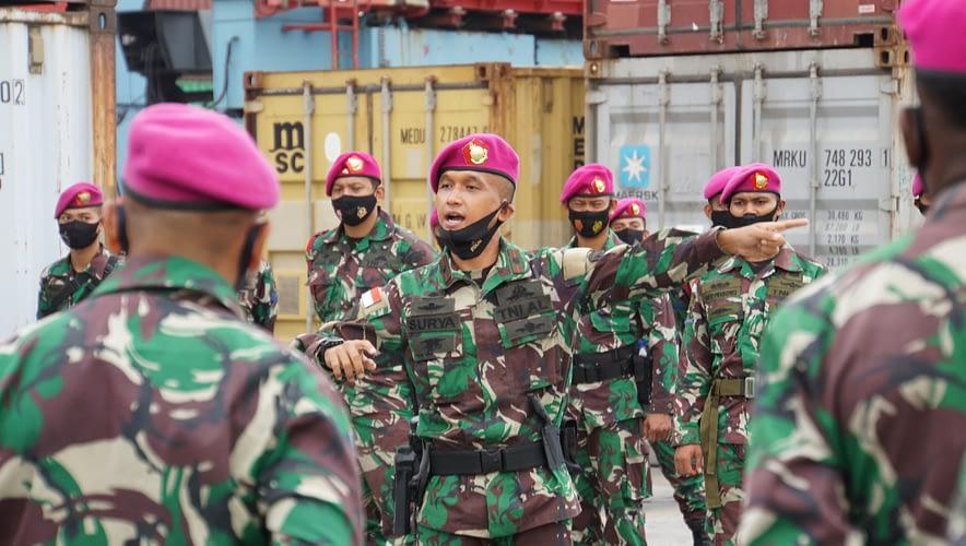 Danpasmar 1 Lepas Rotasi Kompi Komposit Marinir TNI AL Natuna