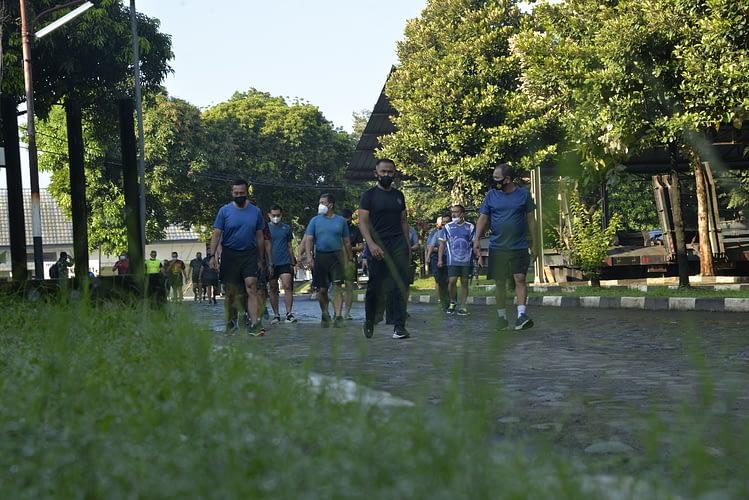 Dankormar Laksanakan Olahraga Pagi di Sarang Petarung