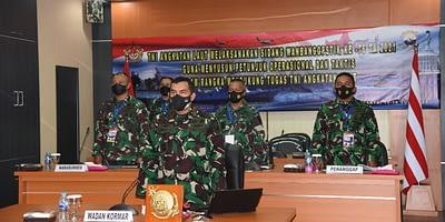 Secara Virtual, Korps Marinir TNI AL Ikuti Sidang Wanbangopstik
