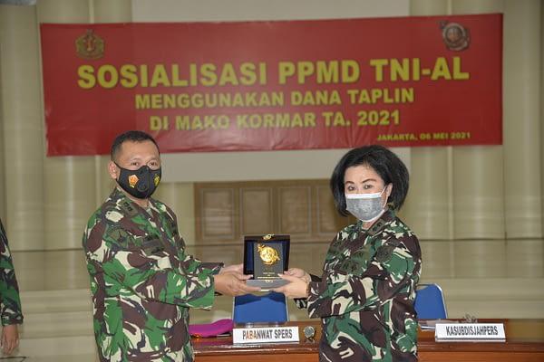 Prajurit dan PNS Mako Kormar Ikuti Sosialisasi Program Perumahan