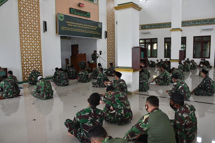 Kodam XVIII/Kasuari Gelar Peringatan Isra'Miraj Nabi Muhammad SAW 1442 Hijriyah Tahun 2021 Masehi