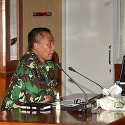 Dankormar Menerima Paparan Satuan Pertahanan Pantai Korps Marinir TNI AL