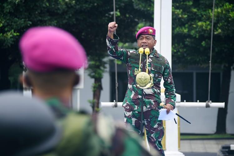 Komandan Pasmar 1 Pimpin Apel Gelar Pasukan Hadapi Setiap Penugasan