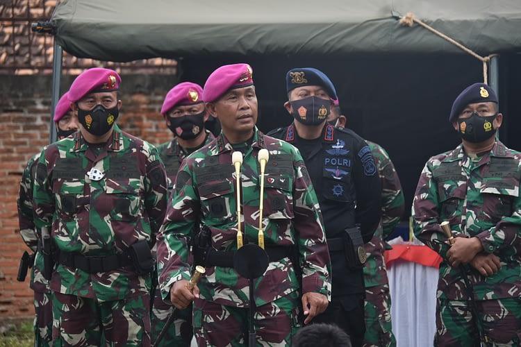 Dankormar Tinjau Perang Perkotaan di Lampung