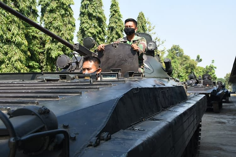 Menjelang Latihan Satuan Lanjutan, Prajurit Batalyon Arhanud 2 Marinir Laksanakan Gelar Satbak