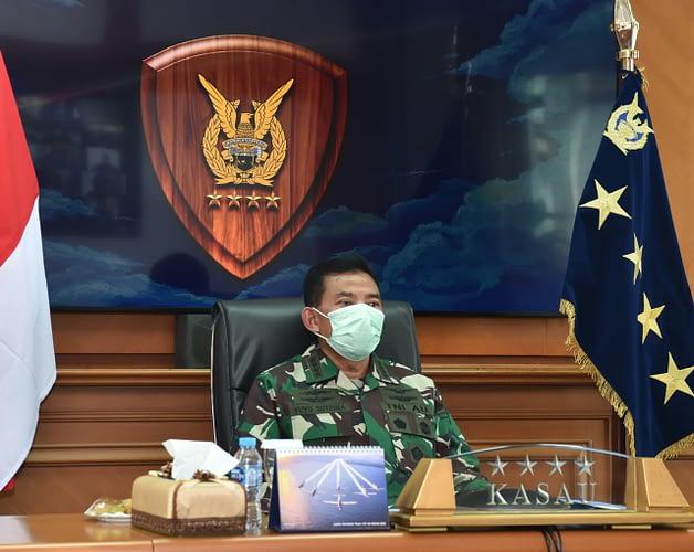 RDP Komisi I DPR RI, Kasau: TNI AU Dukung Penuh Penanganan Covid-19