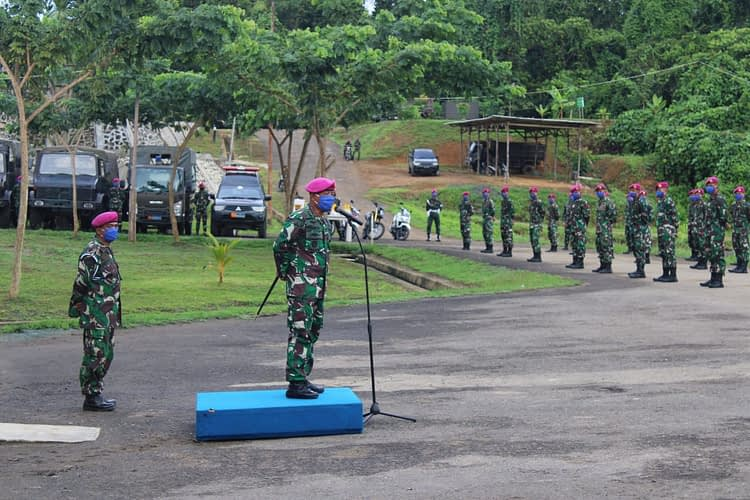 Danmenart 3 Buka Latihan Penanggulangan Dampak Virus Corona Guna Mendukung Tugas Korps Marinir TNI AL Dalam OMSP