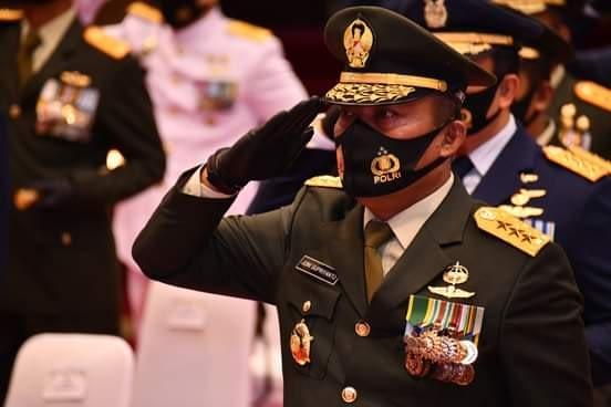 Ditengah Pandemi Covid-19, Mabes TNI Gelar Upacara HUT Ke-75 RI Secara Virtual