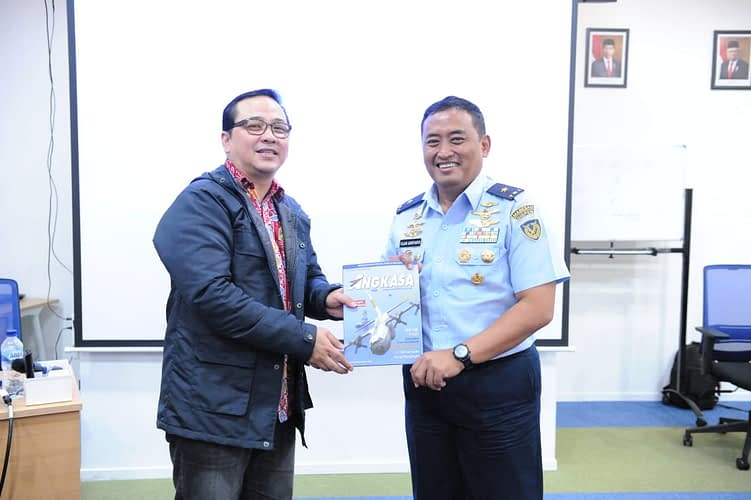 Kapen TNI AU seluruh Indonesia Berguru ke Kompas TV