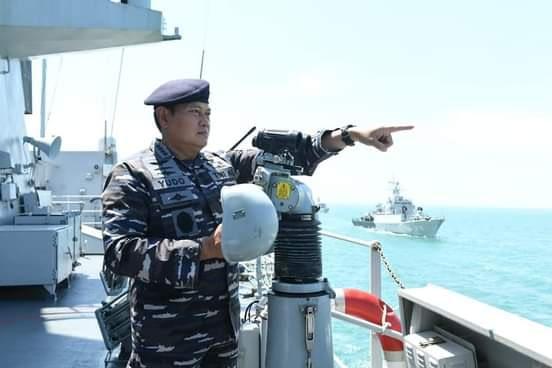 Jelang HUT TNI, Kasal Inspeksi Kesiapan Operasional Unsur Koarmada I