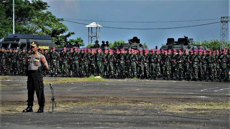 Yonmarhanlan Vi Makassar Ikuti Apel Gelar Pam Pemilu