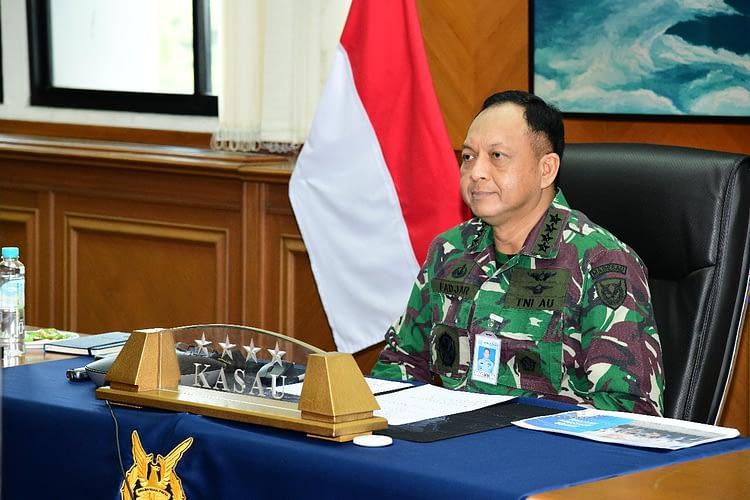 Wakili Panglima TNI, Kasau Buka Webinar Ikahan-SAG Melalui Virtual