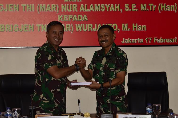 Memorandum Serah Terima Jabatan Komandan Pasmar 1