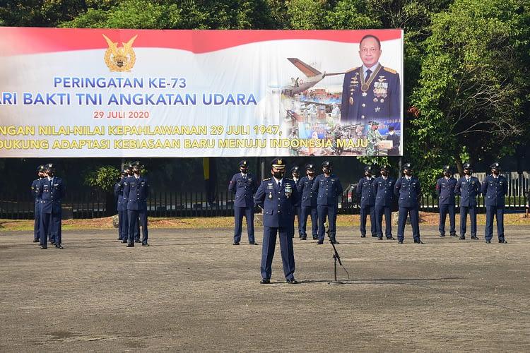 Hari Bakti TNI AU ke-73,  Kasau: Prajurit TNI AU Harus Menjadi Contoh dan Rela Berkorban Meringankan Beban Kesulitan Rakyat