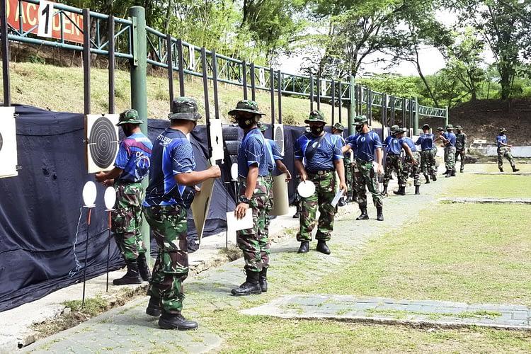 Menjelang Lomba Menembak Tempur Dalam Rangka HUT Korps Marinir Tahun 2020, Atlit Laksanakan Uji Coba Lapangan