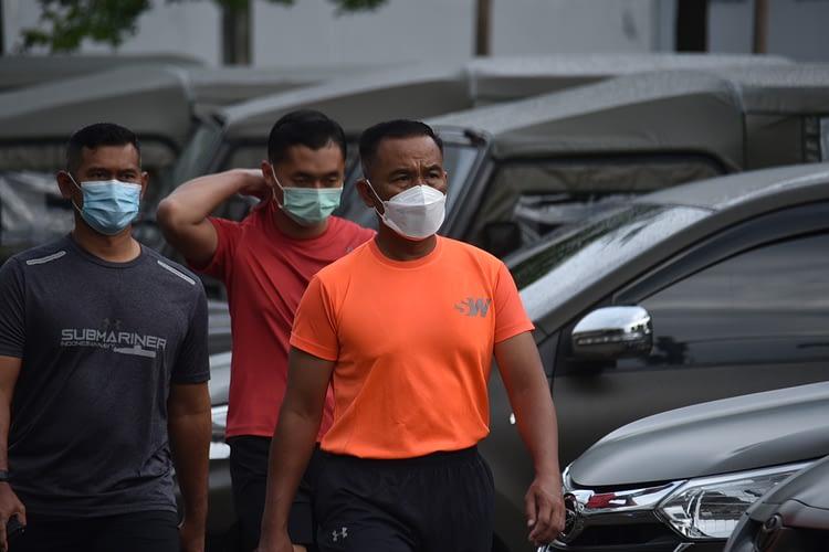 Ditengah Pandemi Covid-19, Wadan Kormar Laksanakan Olahraga Pagi.