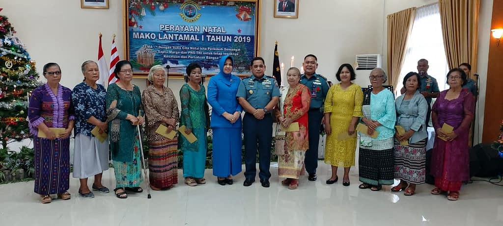 Prajurit Yonmarhanlan 1 Belawan Hadiri Perayaan Natal Tahun 2019